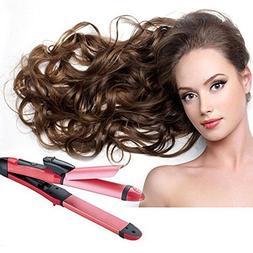 Denshine 2 in 1 Curler & Straightener Hair Curler, Hot Hair