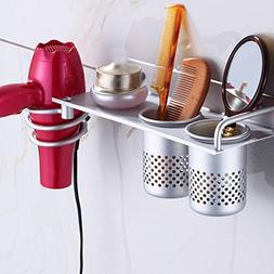 3 in 1 Hair Dryer Holder Rack LinkStyle Hair Dryer Organizer