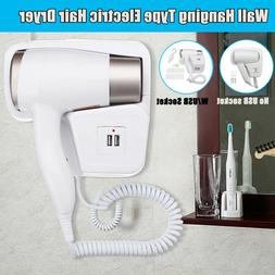 1300W 220V Electric Hair Dryer Blow Hot & Cold Wall Hanging