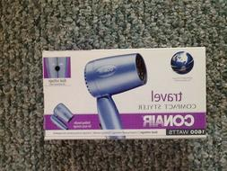 CONAIR 1600 WATTS COMPACT FOLDING TRAVEL HAIR BLOW DRYER MOD