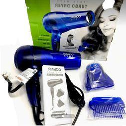 Conair 1875 Watt Translucent Turbo Hair Dryer; Blue