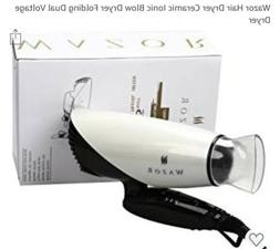 Wazor 1875W Hair Dryer Ceramic Ionic Blow Dryer Folding Dual