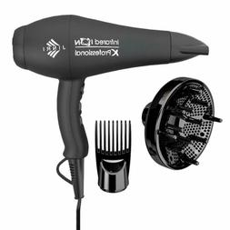 1875W Professional Hair Dryer, Jinri 3 Minute Fast Drying In