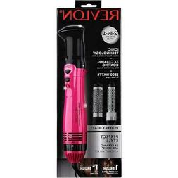 Revlon 2 in 1 Perfect Heat Hot Air Brush Curler Blow Dryer S