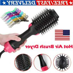 2 in1 One Step Hair Dryer and Volumizer Brush Straightening