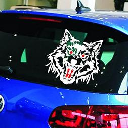 Insfire 2 PcsWolf Head Decal Vinyl Funny Sticker fit for Mot