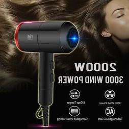 2000W Professional Hair Dryer Hot & Cold Blow Fast Heating L