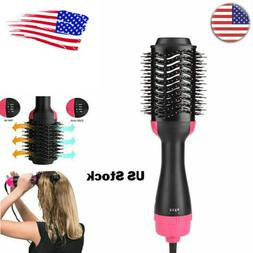 3-in-1 Anion Infrared Hair Dryer Comb Brush Hair Blow Curler