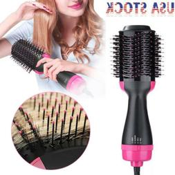 3 IN 1 Oval Hair Blow Dryer Brush Comb Hot Air Dryer Styler