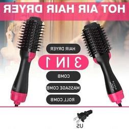 3 in1 Hair Blow Dryer Styling Curling Hot Air Curler Heat Br