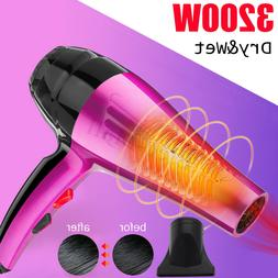 3200W 4-Mode Powerful Hair Dryer Hot & Cold Ionic Blow Heati