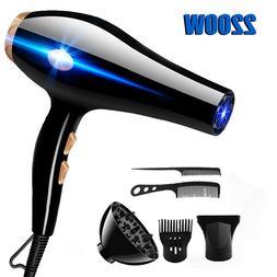 6PCS/Set 2200W Hair Blow Dryer Heat Tool Dryer Diffuser/Comb