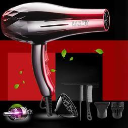 6PCS/Set 2200W Hair Blow Dryer Heat Salon Tool Dryer Diffuse