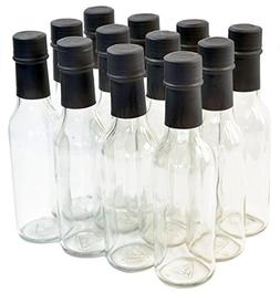 Clear Glass Woozy Bottles with Shrink Capsules, 5 Oz - Case