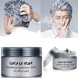 GARYOB Silver Gray Hair Wax Natural Ash Matte Long-lasting P