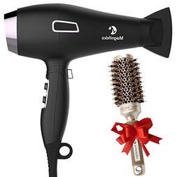 Ionic Hair Dryer with FREE Ceramic Blowdrying Brush | Anti-F