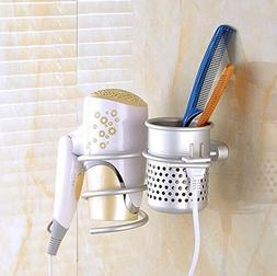 LIVDAT Hair Blow Dryer Holder Shelf Rack Stand with Cup Bath