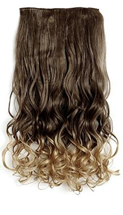 """OneDor 20"""" Curly 3/4 Full Head Synthetic Hair Extensions Cli"""