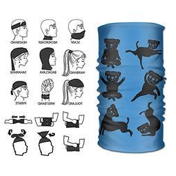 POOPEDD Dog Yoga Poses Versatile Microfiber Sports Headwear,