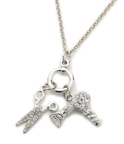 Scissor/Blow Dryer Pendant Necklace