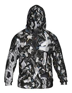Yizzam- Cosmetology Blow Dryers -Allover Print - Mens Hoodie
