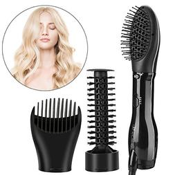 3 in 1 Hot Air Dryer Diffuser Hair Styling Brush Kit, Rotati
