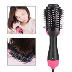 Anion Infrared Hair Dryer Brush Hair Blow Comb Curling Strai