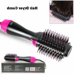 anion infrared hair dryer comb brush volumizer