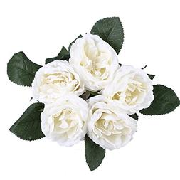 ADolinGo Artificial Flowers French Roses Fake Silk Flowers 5
