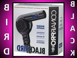 CONAIR BABYLISS PRO 2000 WATT BLACK BIRD CERAMIC HAIR BLOW D