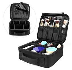 Travel Makeup Bag, AMASAVA Makeup Train Case Cosmetic Organi