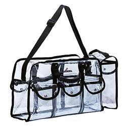 LUVODI Makeup Bag Clear Travel Cosmetics Set Bag Transparent