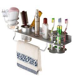 Bathroom Hair Dryer Holder Hair Blow Dryer Comb Holder Organ