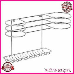 Bathroom Wall-Mount Hair Tools Organizer Dryer Blow Stand Cu