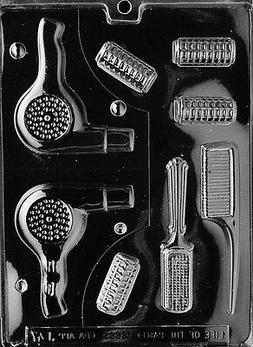 BEAUTICIAN SET PIECES 3D blow dryer  mold Chocolate candy ha