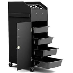 Giantex Salon Beauty Cart Trolley Storage Organizer with 4 D