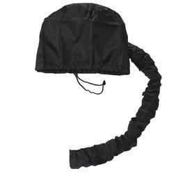 Black Lightweight Hair Drying Salon Cap Bonnet Hood Hat <fon