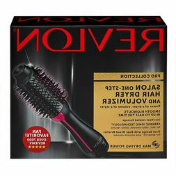 Black Revlon Pro Collection Hot Air One Step Hair Dryer Brus