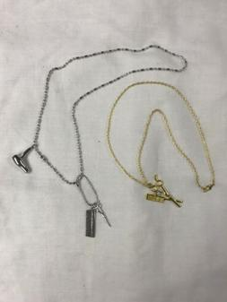 Blow-dryer & Scissor Charm Necklace. Gold or Silver!