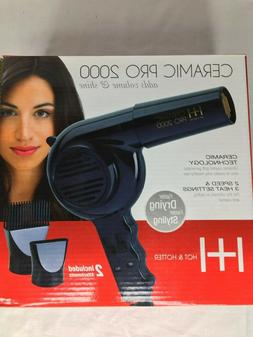 BLOW DRYER CERAMIC PRO 2000 - HOT & HOTTER - , 2 ATTACHMENTS