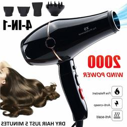 Blow Hair Dryers Diffuser 2000 Watt Blue Ions Salon Care Mod