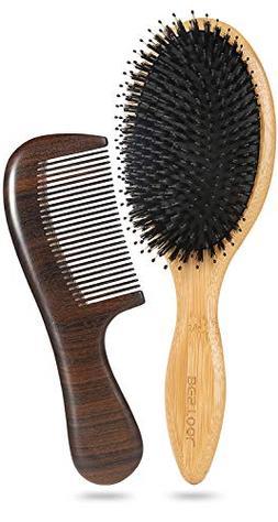 BESTOOL Boar Bristle Hair Brush Set for Men Women-Hair Comb