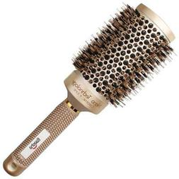 Boar Bristle Round Brush Blow Dryer Comb Attachment Large Ce