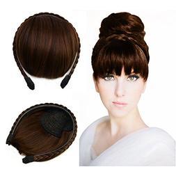 Beauty Angelbella Braided Headband Bangs Clip in Hair Extens