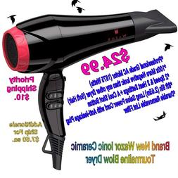BRAND NEW Wazor Pro Ionic Hairdryer Ceramic Tourmaline Blow