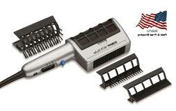 Brush Hair Blow Dryer Comb Ion 3 Attachment Ceramic Long Thi