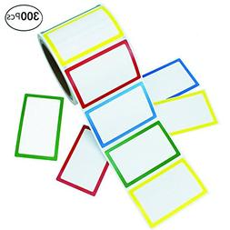 APLANET 300pcs Colorful Name Label Stickers Ordinary Labels,