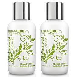 LuxeOrganix Travel Shampoo and Conditioner Set: TSA Approved
