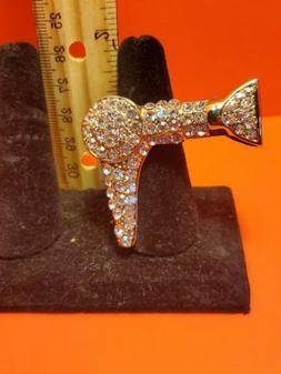 Costume Jewelry Rhinestone Blow dryer Stretch Ring