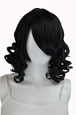 EpicCosplay Diana Black Short Curly Wig